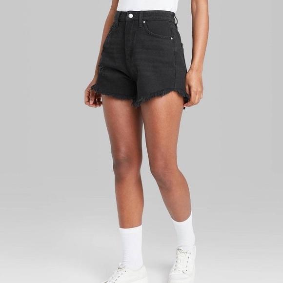 Black Wild Fable High Rise Denim Shorts